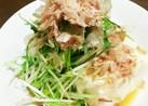 水菜たっぷり~♡わさび味の冷やっこ