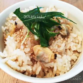酢生姜レシピ☆アサリの炊き込みごはん