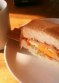 朝から栄養満点*サンドイッチ