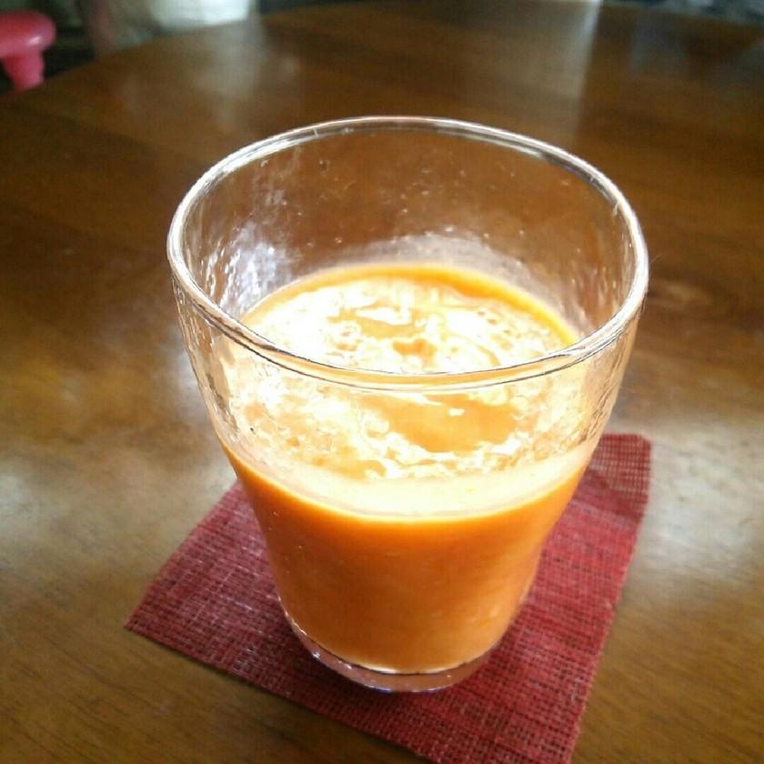 超簡単♡甘酒de橙カラー・スムージー♪