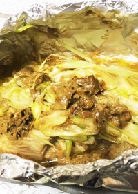 イカのホイル焼き☆キモと味噌とバター合う