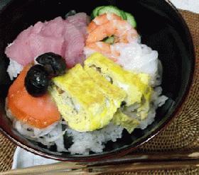 簡単で豪華:ちらし寿司