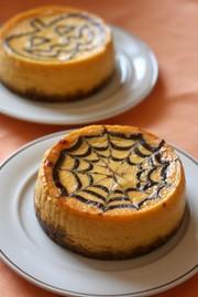 ハロウィンチーズケーキの写真