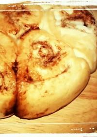炊飯器でパン!シナモンロール