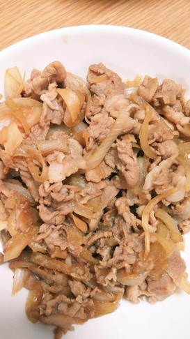 寿司ガリ生姜酢漬とすき焼きたれで生姜焼き