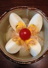 まるごと新玉ねぎとゆで卵の温サラダ
