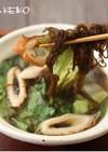 レタスともずくの中華スープ