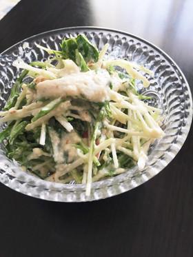 まるごと水菜のゴマ豆腐サラダ