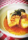 揚げ親子丼出汁豆腐