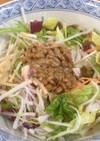 こんにゃく麺のスゴうま納豆サラダ