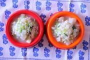 *犬ごはん* 一緒に食べる鶏雑炊の写真