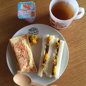 桜海老のチーズトースト 離乳食完了期