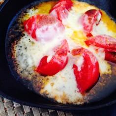 低糖質!豪華な一品、焼きトマトチーズ