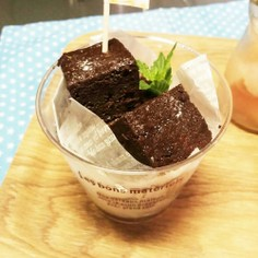簡単☆しっとり米粉チョコケーキ・小麦なし