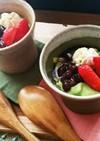 マショマロで作る簡単抹茶豆乳ムース❗