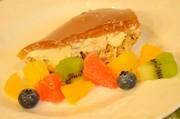 ローズ香るローズティーのレアチーズケーキの写真