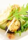 車麩と茄子の薬味サラダ(洋風精進料理)