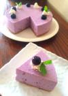 お豆腐のブルーベリーレアチーズケーキ