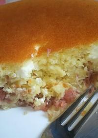 炊飯器deホットケーキ-苺JAM-