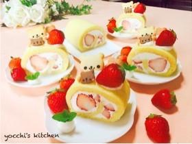 簡単♡米粉のふわふわロールケーキ