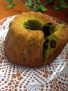 我が家の定番   抹茶クグロフケーキ