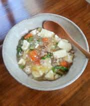 おなかにやさしい豚肉と豆腐のとろみ炒めの写真
