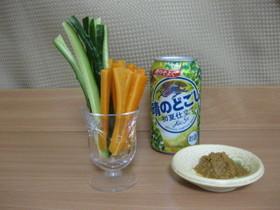 【シンプルおつまみ】野菜スティック