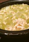 蕗とお揚げの土鍋ご飯
