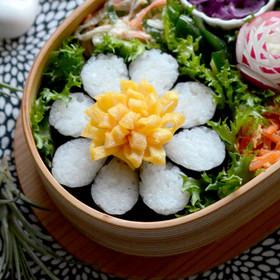 海苔巻かず◎お花型ご飯◎お弁当に♪