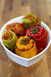オーブンで簡単!ブルグル・ドルマの写真