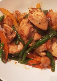 ピリ辛タイ風鶏肉とシシトウ炒め☆