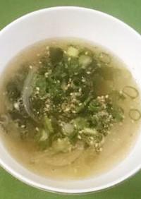玉葱とろり♪のワカメスープ