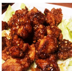 シンプル材料簡単☆油淋鶏(甘酢から揚げ)