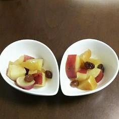 りんごとさつまいもとレーズンのみりん煮