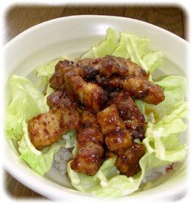 CookDo回鍋肉豚バラ肉のレタスマヨ丼