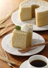 大麦粉シフォンケーキ