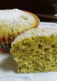 緑茶葉で♡和風カップケーキ