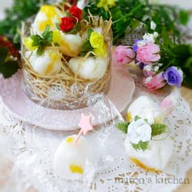製氷皿で作るゼリー玉♡フルーツ牛乳寒天