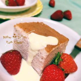 卵白だけで作る♡いちごみるくケーキ♡