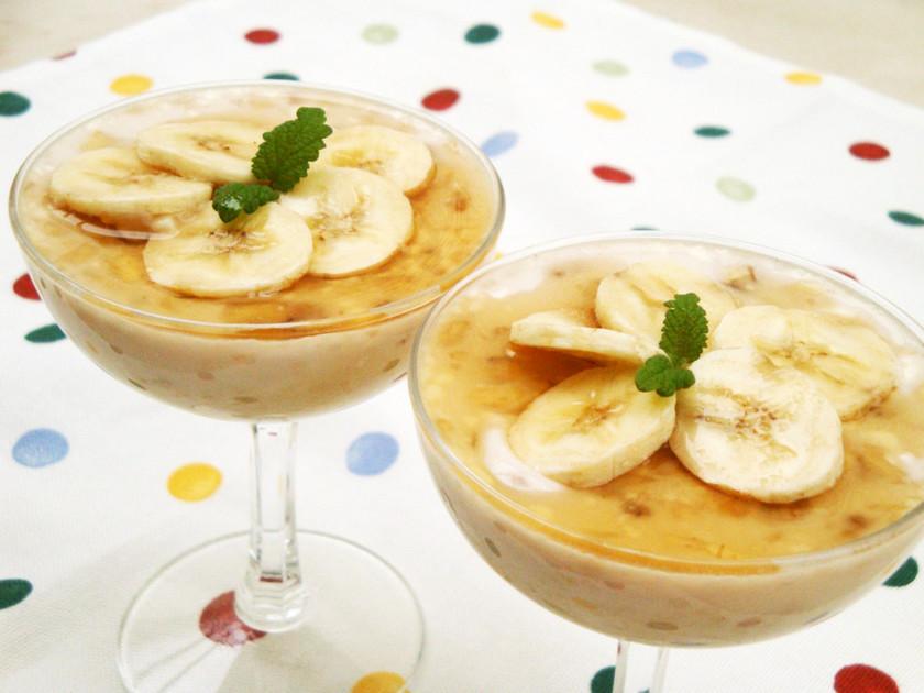 ブルグル&バナナのミルクプリン