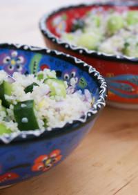 枝豆のブルグルサラダ