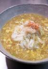 毛蟹で作るカニ玉あんかけ温素麺