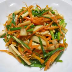 旬・大蒜花芽の野菜炒め
