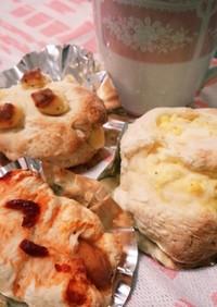 ホットケーキミックスで簡単総菜パン