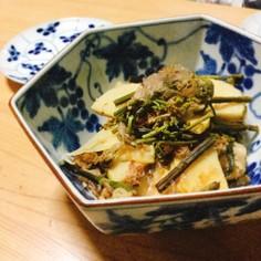 たけのことわらびと豚肉のピリ辛土佐煮