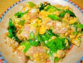 レタス・ツナ・卵の炒め物