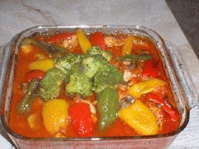チキンとトマトの放り込み焼き