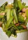 にんにくと小松菜の醤油炒め