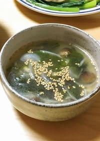 焼肉屋さんのワカメスープ