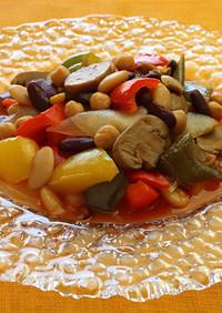 彩り野菜と3種豆のピスト【天狗缶詰】